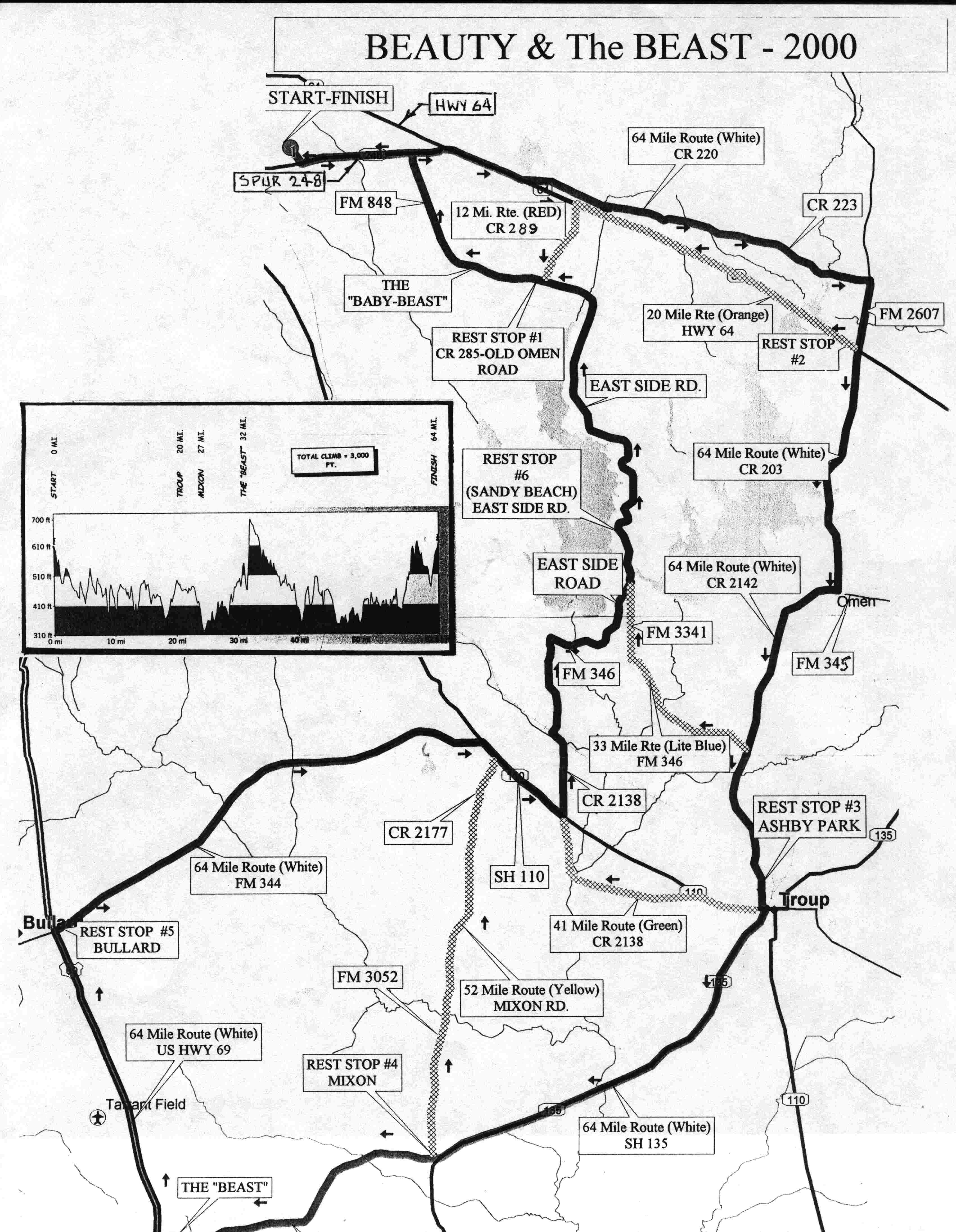 Bike Ride Maps Texbikernet - Map us route 20